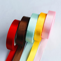 Silk Satin Ribbon Wedding Party Decoration Gift Wrapping Christmas New Year Apparel Sewing Fabric Hand DIY