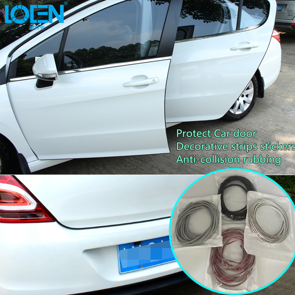 5M/PC  Soft Invisible Car stickers door decorative protect Anti-collision rubbing strips Car styling for toyota vw ford audi kia