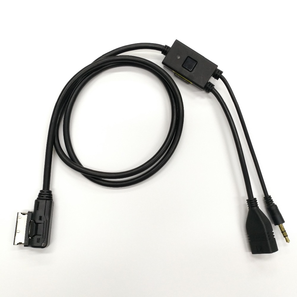 USB AUX MP3 Interface Adapter Cable for Audi MMI 2G 3G 3G+ A1 A3 A4 A5 A6 S6 RS6 A8 Q3 Q5 Q7(China)