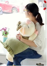 big cartoon cute plush pig toys lovely pig pillow toy green spot stuffed doll birthday  gift about 75cm