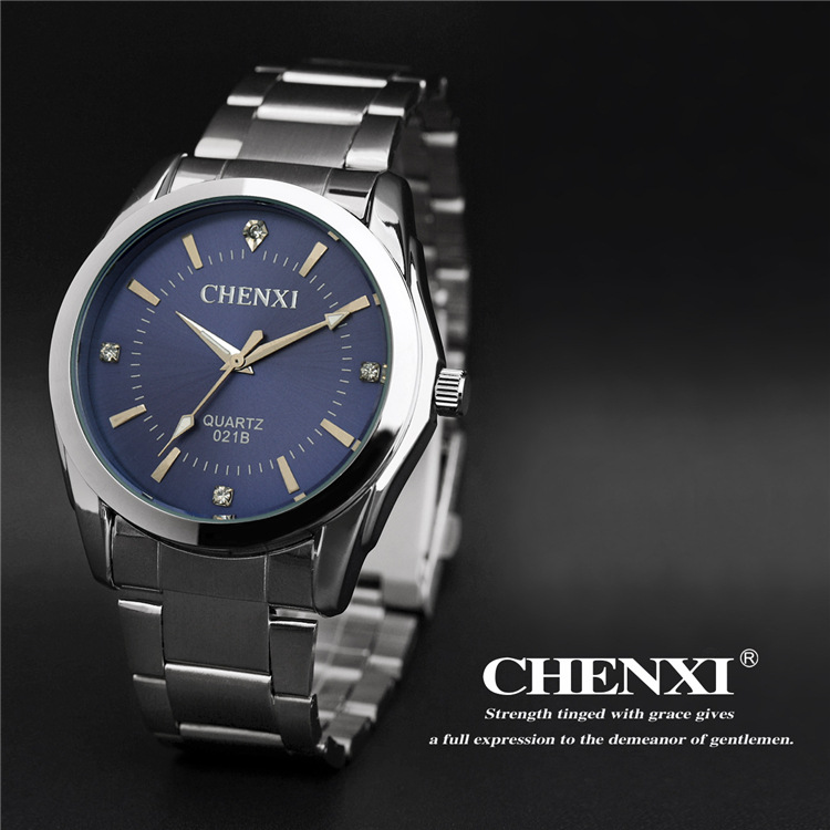 Couple Chenxi Watch Vintage Men Women Lovers Business Wrist Watches Analog Quartz Full Stainless Steel Watchband Lovers Gift
