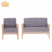 Fashion 1/6 Scale Double Sofa Couch Furniture for Hot Toys Figures Barbie Blythe BJD Dolls Accessories Decoration