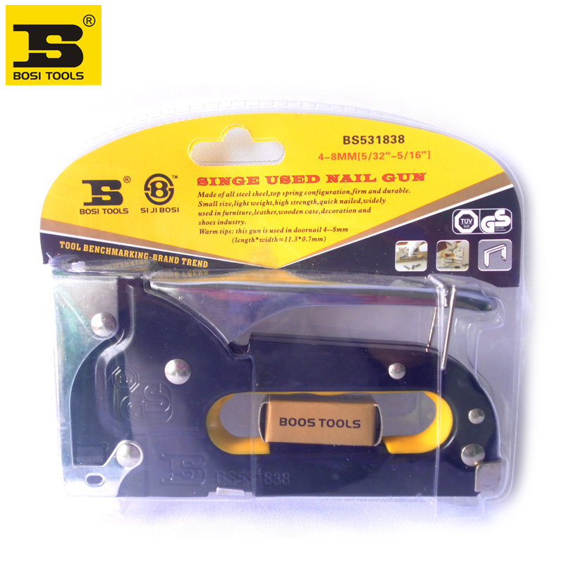 Free Shipping Upholstery Hand Stapler Tacker Staples Gun Fit With 5/32