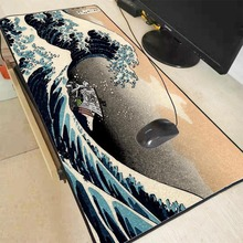 Mairuige 90X40CM Great Wave  Mouse Pad Large Lock Edge Mat Desk Mats Big Mousepads Gaming Rug XL for Office Work/