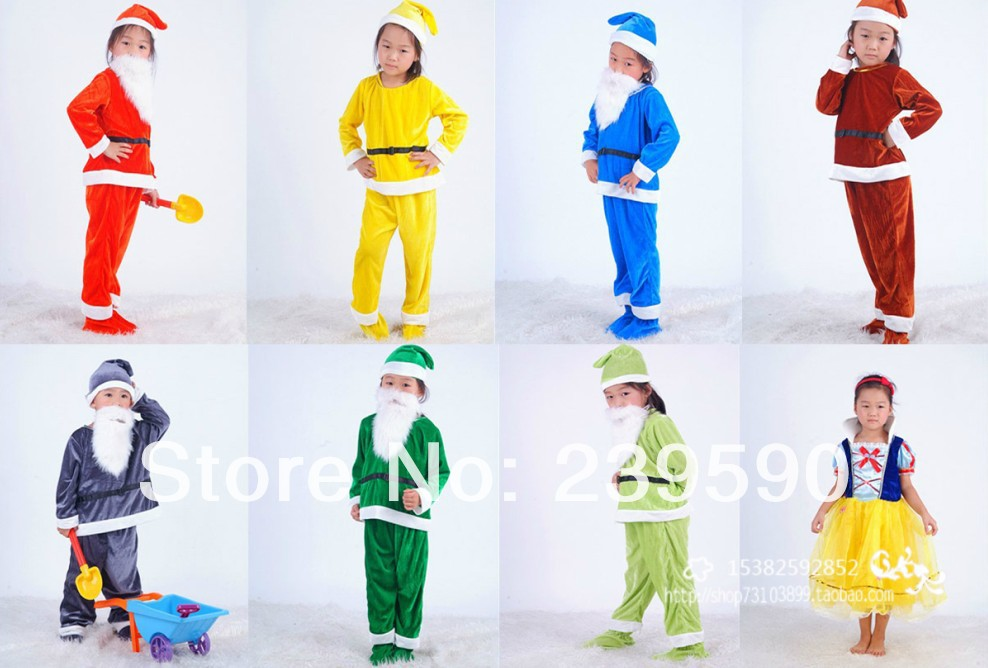 Dropshipping Retail Wonder Christmas 7 Seven Dwarfs Costume For
