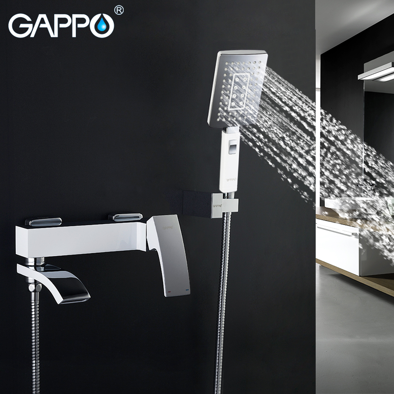 Gappo bathroom Bathtub Faucets high quality shower faucet plus hand shower head chrome polished brass waterfall