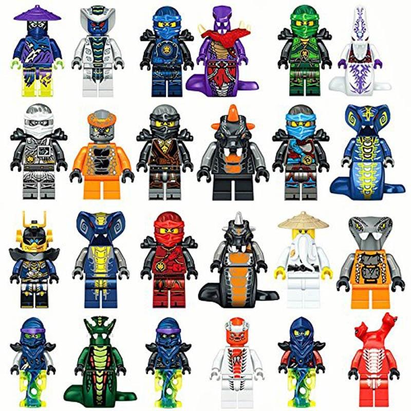 Kitoz 24pcs Ninjago Ghost Evil Ninja Pythor Choprai Mezmo