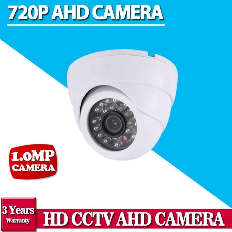 1/4CMOS 1.0Megapixel AHD Dome Camera 24units IR Leds Built-in IR Cut Good Night Vision Home Security Weather-proof CCTV Camera 2016 economic cmos 2 0 megapixel 1080p vandalproof waterproof ahd dome cctv camera system