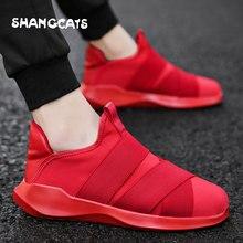 men shoes plus size zapatos de hombre sneakers men slip on Vulcanized shoes casual sneakers shoes solid color original brand