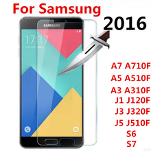 Screen Protector Film  Tempered Glass For Samsung Galaxy A3 A5 A7 J1 J3 J5 2016 A510F A710F J120F J320F J510F S6 7 case cover