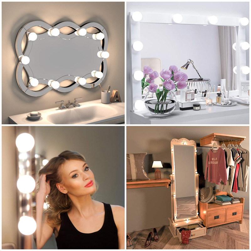 Permalink to USB 3 Colors Dimmable 10 LED Vanity Lights Bulb Hollywood Style Makeup Lamp For Dressing Table Bathroom Vanity Mirror Light