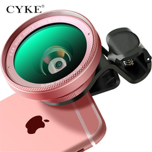 CYKE Phone Lens kit 0.6x Super Wide Angle & 15x Macro Lens HD Camera Lentes for iPhone 6S 7 Xiaomi more cellphone