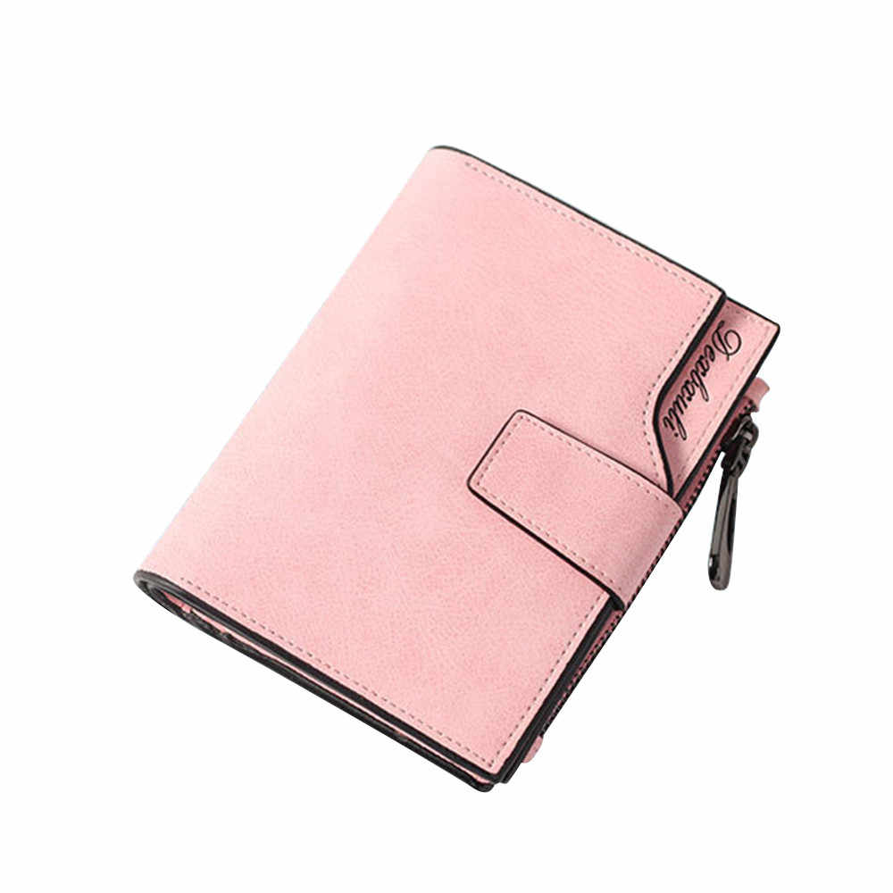Wallet Women Vintage Fashion Top Quality Small Wallet Leather Purse Female Money Cards ID Holder Clutch Woman Wallet