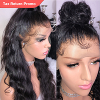 TRANSPARENT Full Lace Wig With Baby Hair Body Wave Glueless Brazilian Human Hair Wigs For Women Black Pre Plucked 130% Remy Wigs