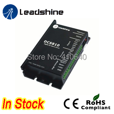 Leadshine DCS810 Brushed Servo Drive with Max 80 VDC Input Voltage and 20A  Peak Current set sales leadshine dcm50207d 120w servo motor with dcs810 servo drive 80vdc 20a and rs232 tuning cable