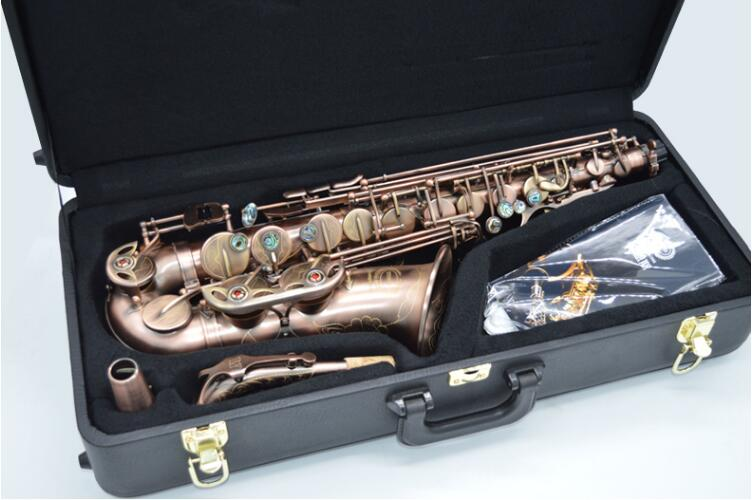 Customize Retro Instruments Alto Saxophone WES-2018 E Flat Sax Unique Antique Copper Brass Saxophone Eb Tune Saxofone alto saxophone new eb selmer silver alto saxophone plated brass musical instruments professional saxophone alto sax e flat