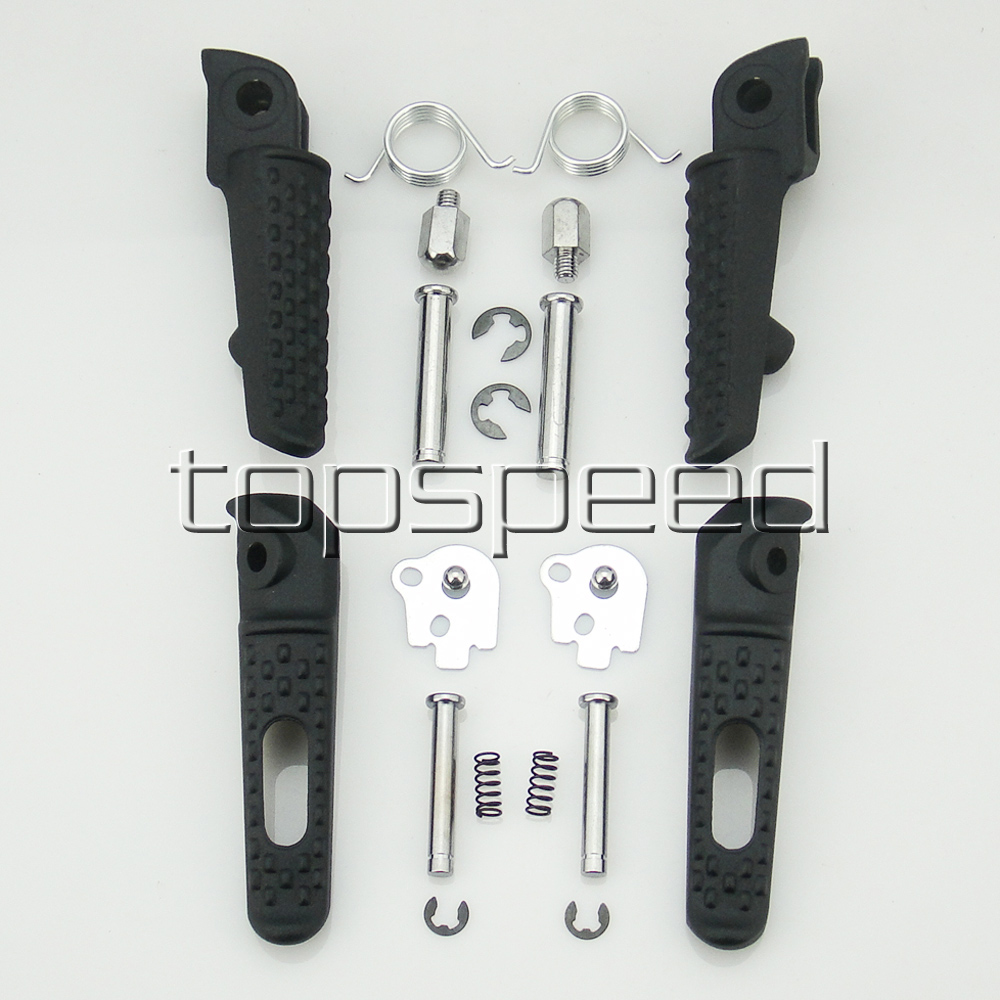 Foot Rests Motorcycle Front And Rear Footrest Footpegs Bracket For Honda Cbr600rr Cbr1000rr 2004-2012 Black Automobiles & Motorcycles