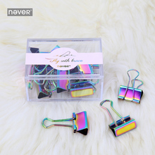 Never Fly Bird Series Colored Binder Clips Metal Paperclip Paper Clip Office Decorative Accessories School Stationery Supplies