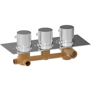 Homedec Concealed 3 Way Thermostatic Mixing Valve Wall Mounted