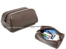 Leather Travel Travel toiletry bag Cosmetic bag Shaving Case Organzier Shoe Bag Free shipping