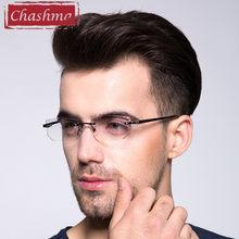 924db687f2 Chashma calidad superior Tint lentes miopía y la lectura gafas Rimless prescripción  gafas para hombre