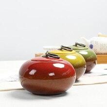 450ML Variable Glaze CeramicTea Caddy Portable Travel Tea Storage Ceremony Accessories Vintage Sealed Jar High Quality