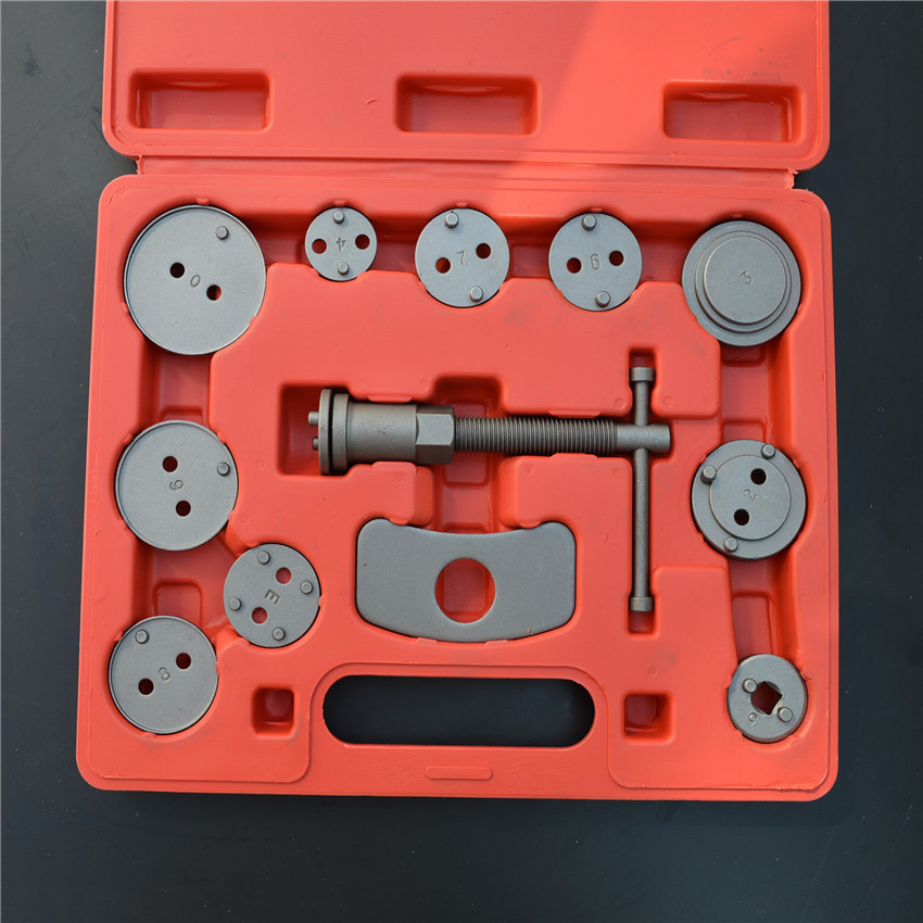 12pcs/Set Universal Car Disc Brake Caliper Wind Back Brake Piston Compressor Tool Kit For Most Automobiles Garage Repair Tools 2 pair universal car 3d style disc brake caliper covers front rear