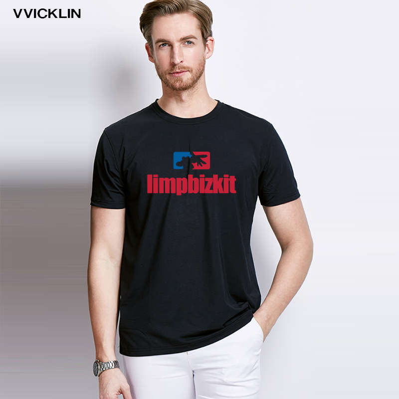 2019 Men   T  -  shirt   Cotton O-Neck Short-sleeve Summer Limp Bizkit Rock Band Plus SizeT   Shirt   Good Quality Free Shipping