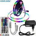 Светодиодная ленсветильник 10 м RGB осветительная лампа 2835 _ 5 м 15 м Светодиодная гибкая лента Диодная + 44 клавиши контроллер + набор адаптеров п...