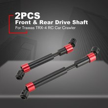 цена на 2PCS TRX4 Metal CVD Drive Shaft for 1/10 RC Rock Crawler 324MM Wheelbase Traxxas TRX-4 RC Car S9