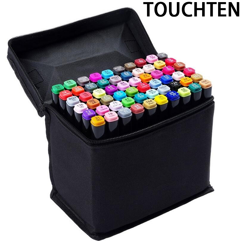30/40/60/80 Colors Animation Alcohol Art Markers Set  Drawing Pen Sketch Manga Graphic Design Double Headed ProTwin Marker