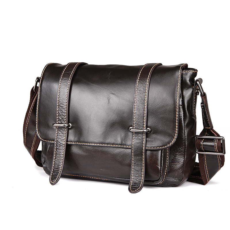 Retro Cowhide Genuine Leather Shoulder Bags Small Crossbody Bag Ipad Men Messenger Bags Handbag Small Men's Leather Bag Male meigardass new style male genuine leather handbag man bag crossbody shoulder bag small casual messenger bags for men cowhide