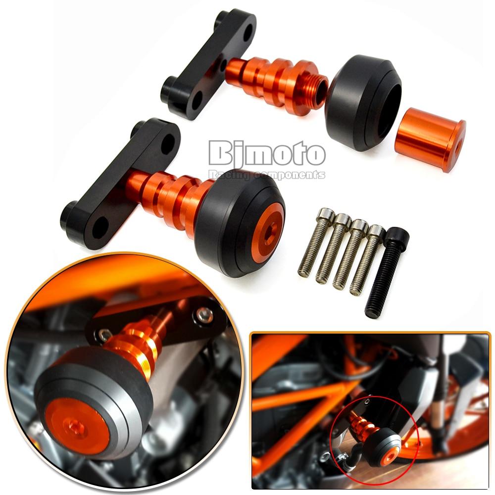 BJMOTO высокого качества оранжевый мотоцикл мотоцикл левый и правый Рамка слайдер Анти-краш протектор для KTM герцог 125 200 390