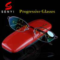 High Quality Progressive Reading Glasses Women Bifocal Lens Reader Multi Focal Addition Eyeglasses Half Frame Presbyopia