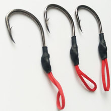 pesca 4pcs High Carbon Steel Sharped Fishing Hook Jig With PE Line Jig Assist Barbed Fish Hook Ocean Boat Fishing Accessories