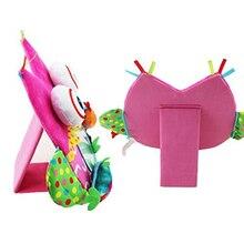 Детская игрушка-погремушки с зеркалом для младенцев и малышей, слоны, развивающие игрушки-погремушки, детские игрушки 0-12 месяцев