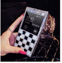 Luxury Bling Rhinestone Diamond for samsung galaxy Note3 S4 S5 i9500 wallet flip phone leather case cover