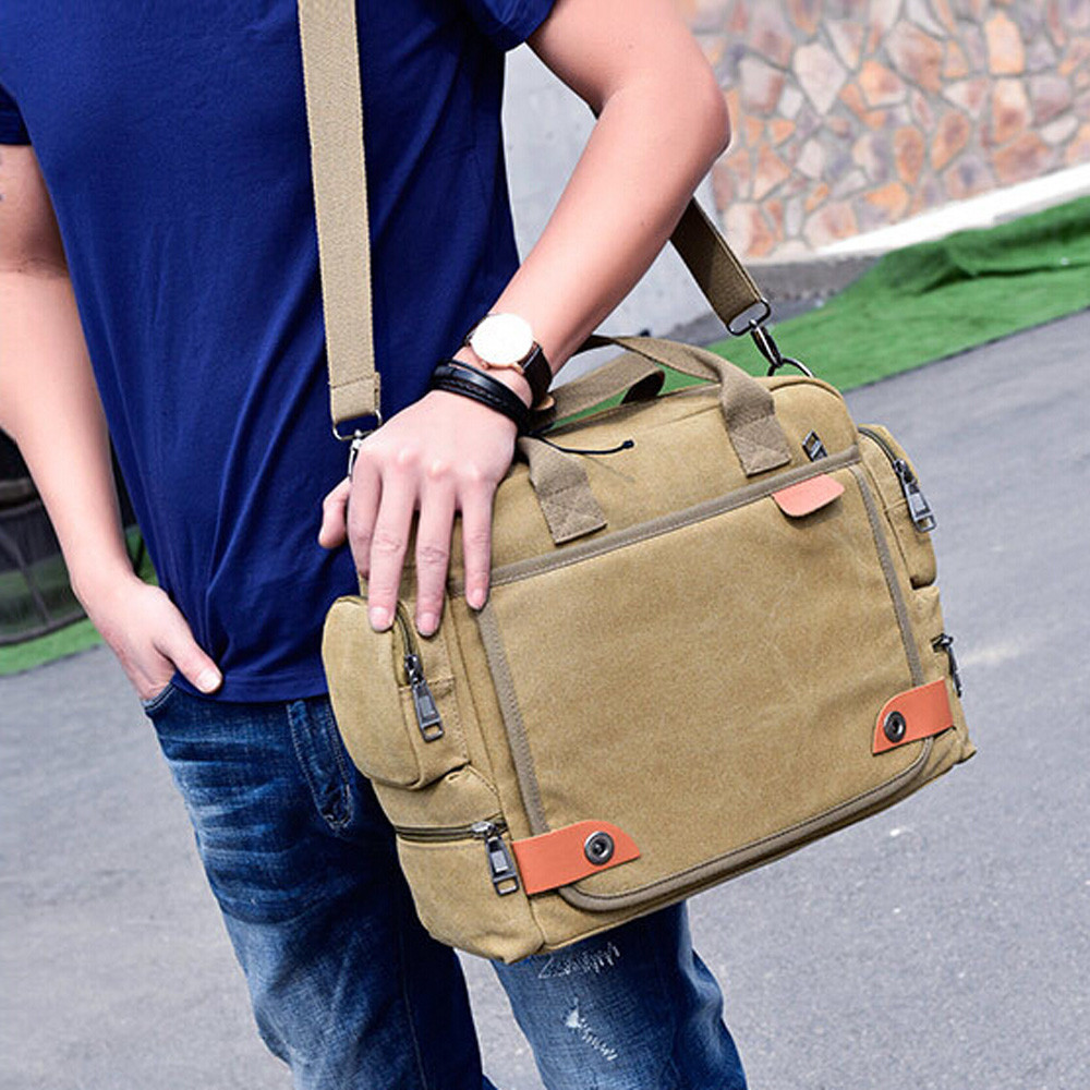 3e279ca834d8 New Crossbody Bags For men Canvas Messenger Shoulder Bag Crossbody Sling  briefcase Satchel Bolsas Feminina