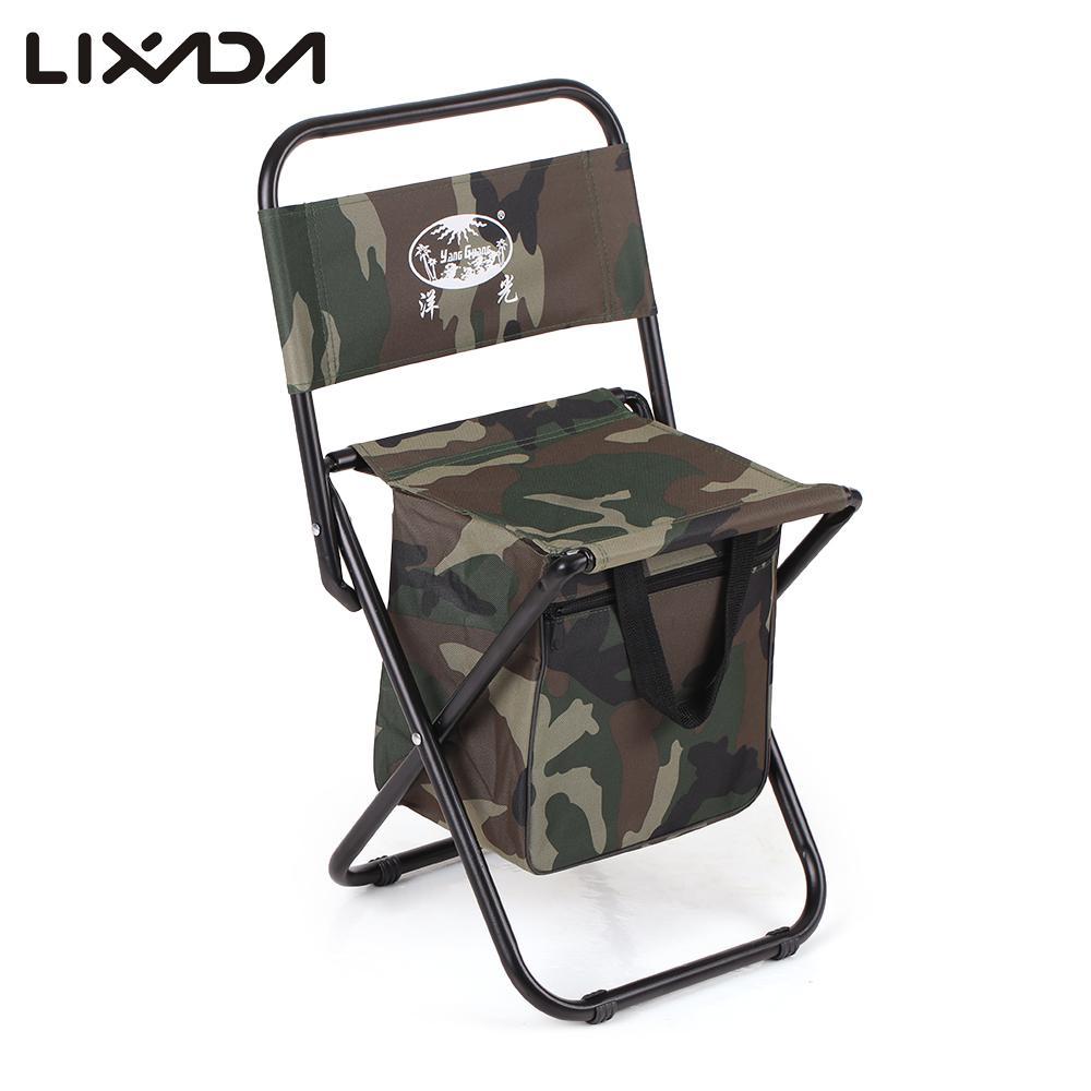 Backpack fishing chair - Lixada Foldable Fishing Chair Outdoor Portable Stool Folding Backpack For Fishing Beach Camping China