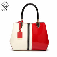 STXL 2017 Fashion Female Patent Leather Handbag Shoulder Messenger Bag Spring And Summer
