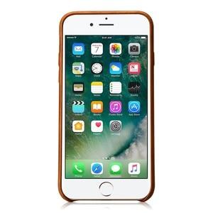 Image 3 - Jisoncase אמיתי עור כיסוי עבור iPhone 7 7 בתוספת מקרה יוקרה חזרה כיסוי Slim נייד טלפון מקרה עבור iPhone 8 8 בתוספת אנטי לדפוק
