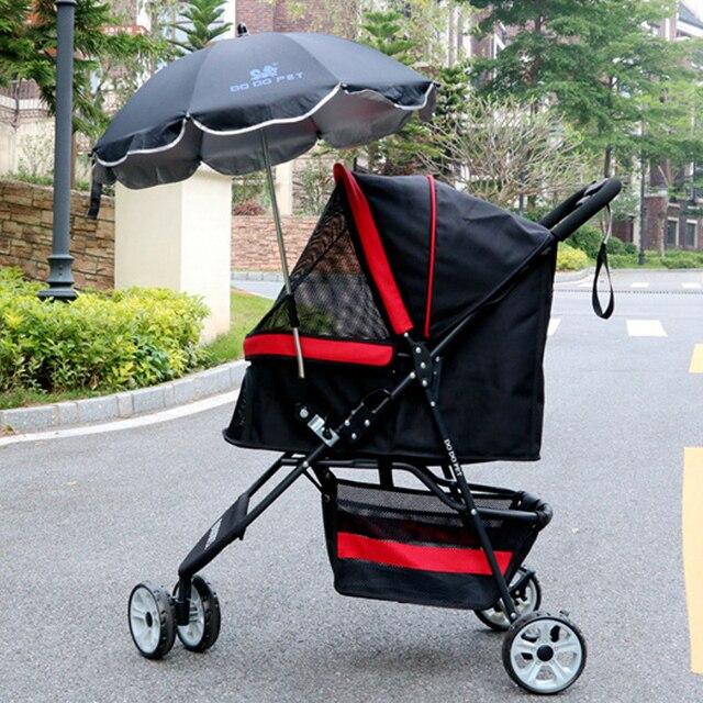 Зонт ПЭТ коляска зонтик открытый роскошь собака щенок тележка питомник четыре колеса зверек нести корзину аксессуары товары