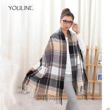 Youline moda Cachemira bufanda del invierno para las mujeres bufanda TELA  ESCOCESA caliente gruesa Mantones y b8e55f7abe2