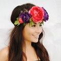 Чехия Женщины Девушки Цветы Повязки Пляж Отдых Праздник Hairband Аксессуары Для Волос Цветочные Венки Украшения Подарки S3217