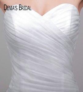 Image 3 - フリルマーメイドウェディングドレスでブラックベルトティアード裁判所の列車ブライダルガウンカスタムメイド
