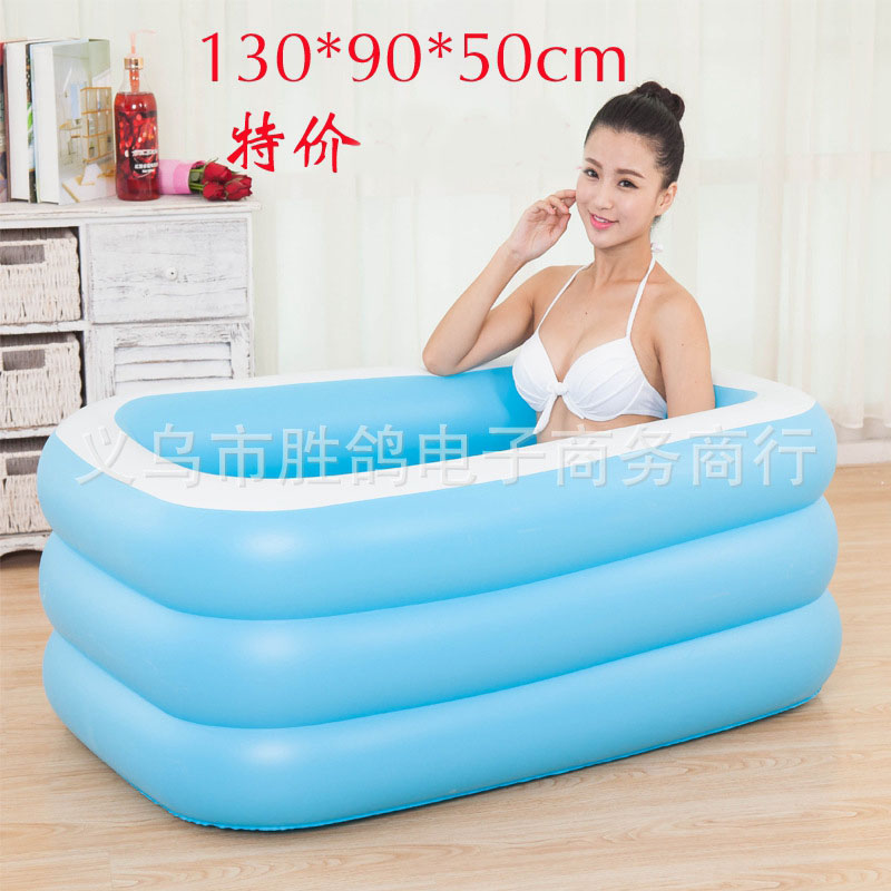Large size family children outdoor portable inflatable for Large size inflatable swimming pool