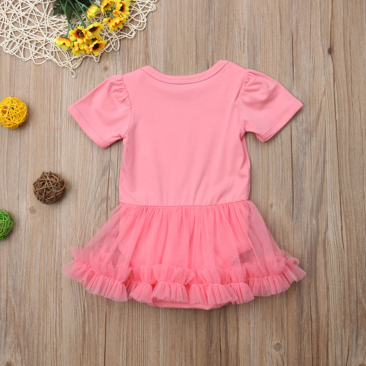 Princess Newborn Baby Girls Short Sleeve Romper Jumpsuit Clothes Sunsuit Oufits 0 18M in Rompers from Mother Kids