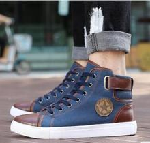 2018 foreign trade large size European and American style autumn men shoes high to help mens couple sneakers 37-47