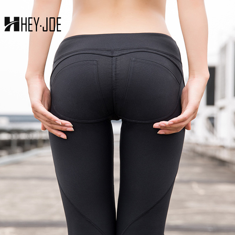 HEYJOE   Leggings   For Fitness Solid ActiveWear High Waist Casual Slim Leggins Sexy Push Up Workout Shaping New   Leggings   For Women