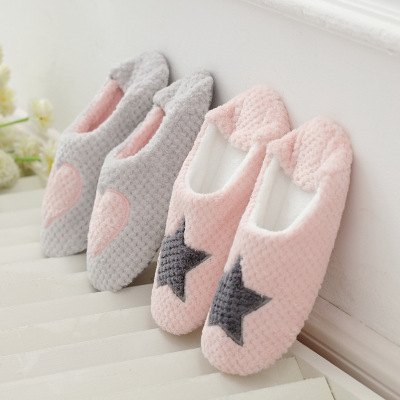 Women Home Slippers Warm Winter Cute Indoor House Shoes Bedroom Room For Guests Adults Girls Ladies Pink Soft Bottom Flats warm flock women home slippers winter cute indoor house shoes casual plush flat women shoes soft bottom female footwear dx1048